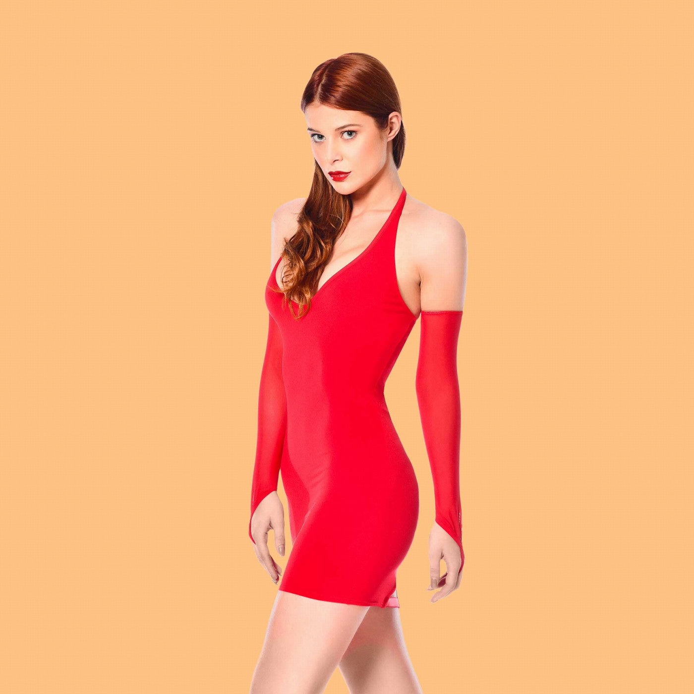 Nikita, robe sexy en lycra rouge - Patrice Catanzaro
