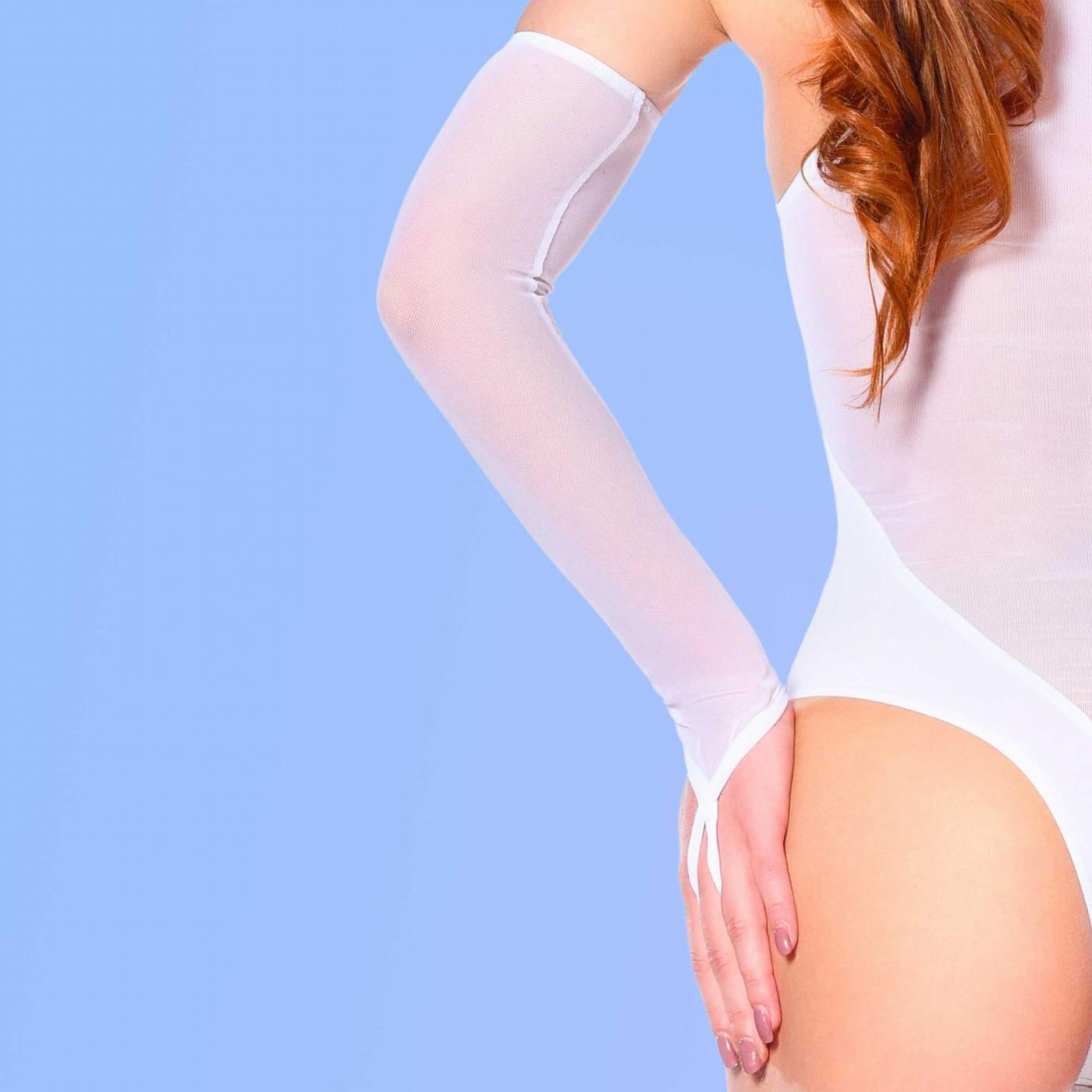 Mitaines sexy en résille blanche - Patrice Catanzaro