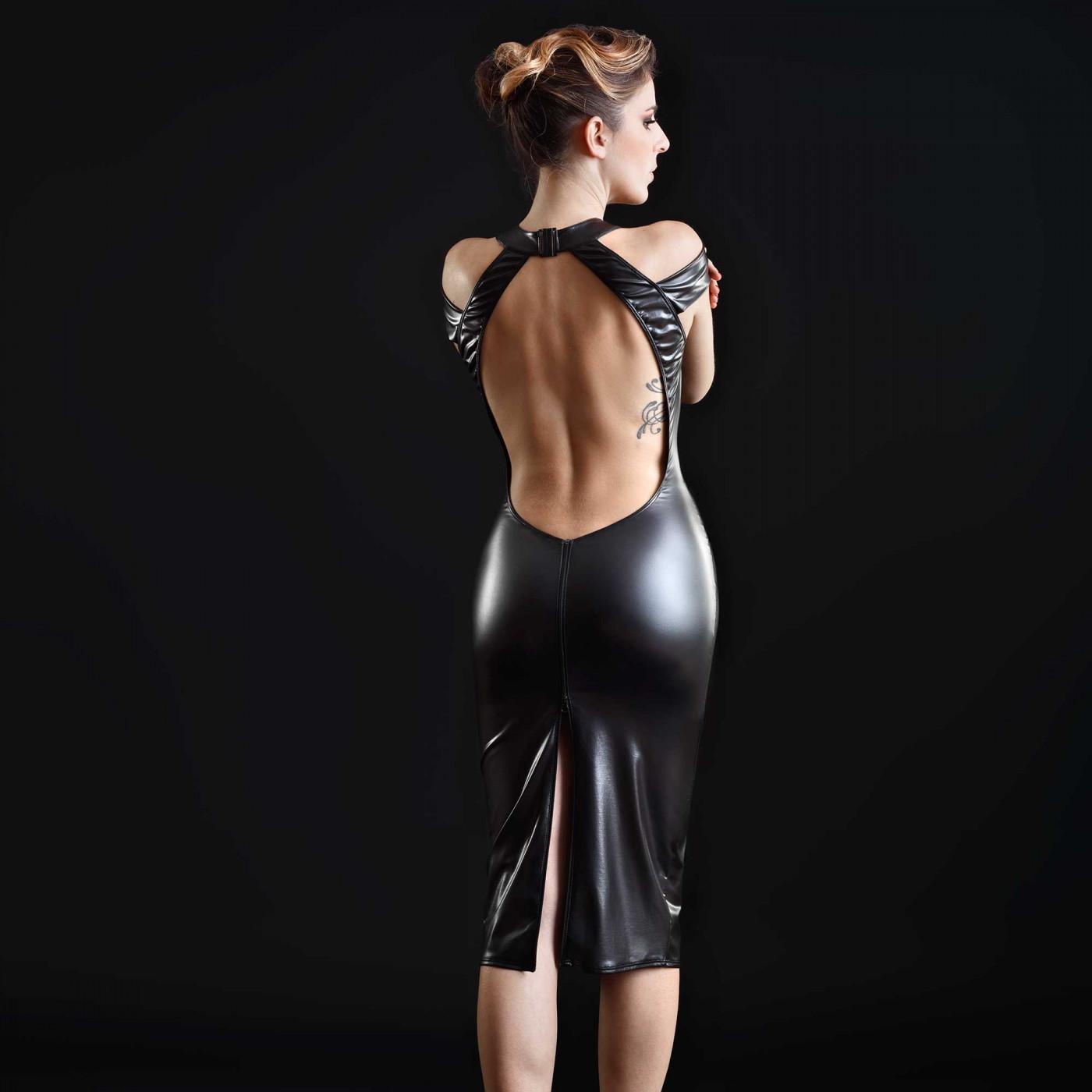 Smoothe, robe sexy en wetlook noir - Patrice Catanzaro