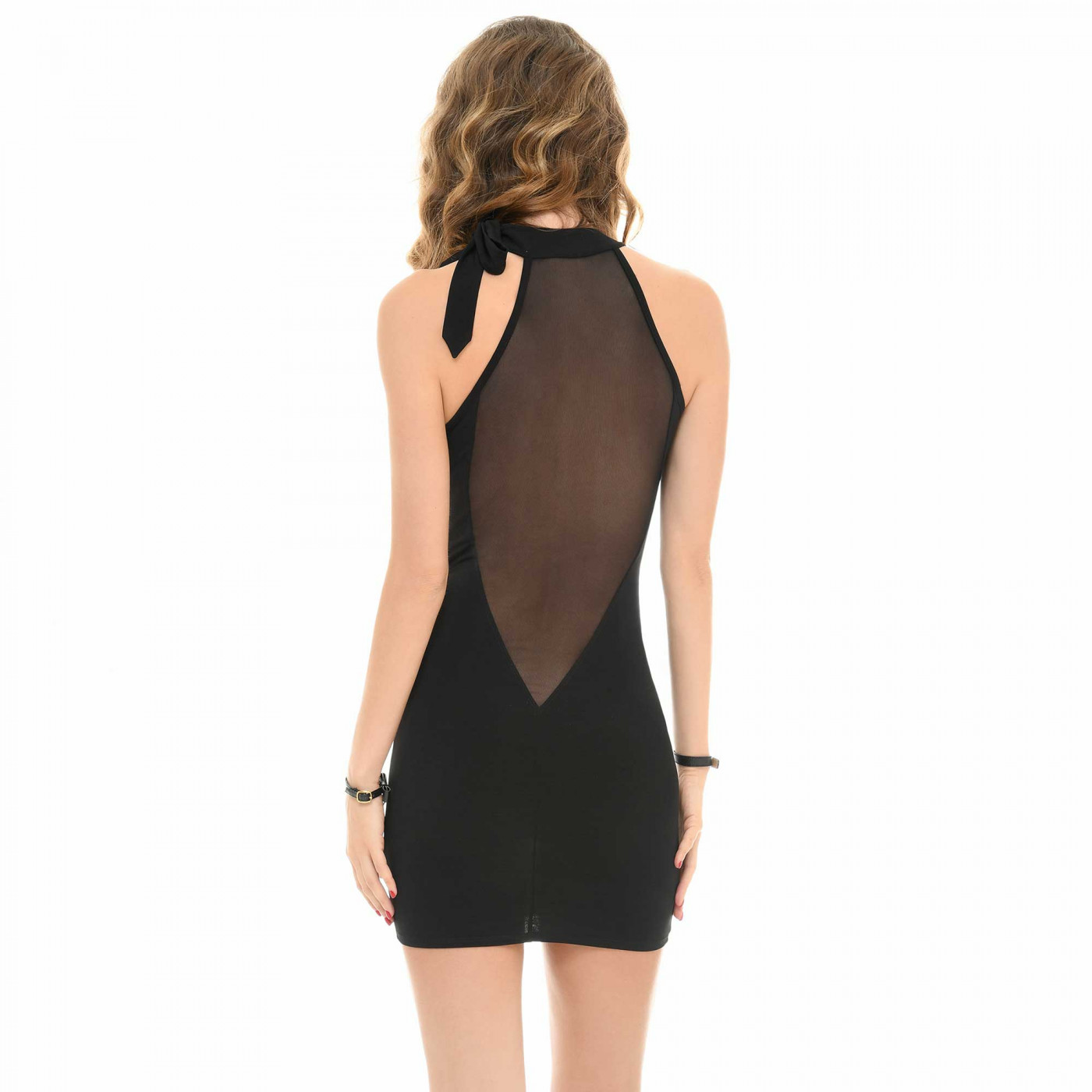 Cécily, mini robe dos transparent - Patrice Catanzaro