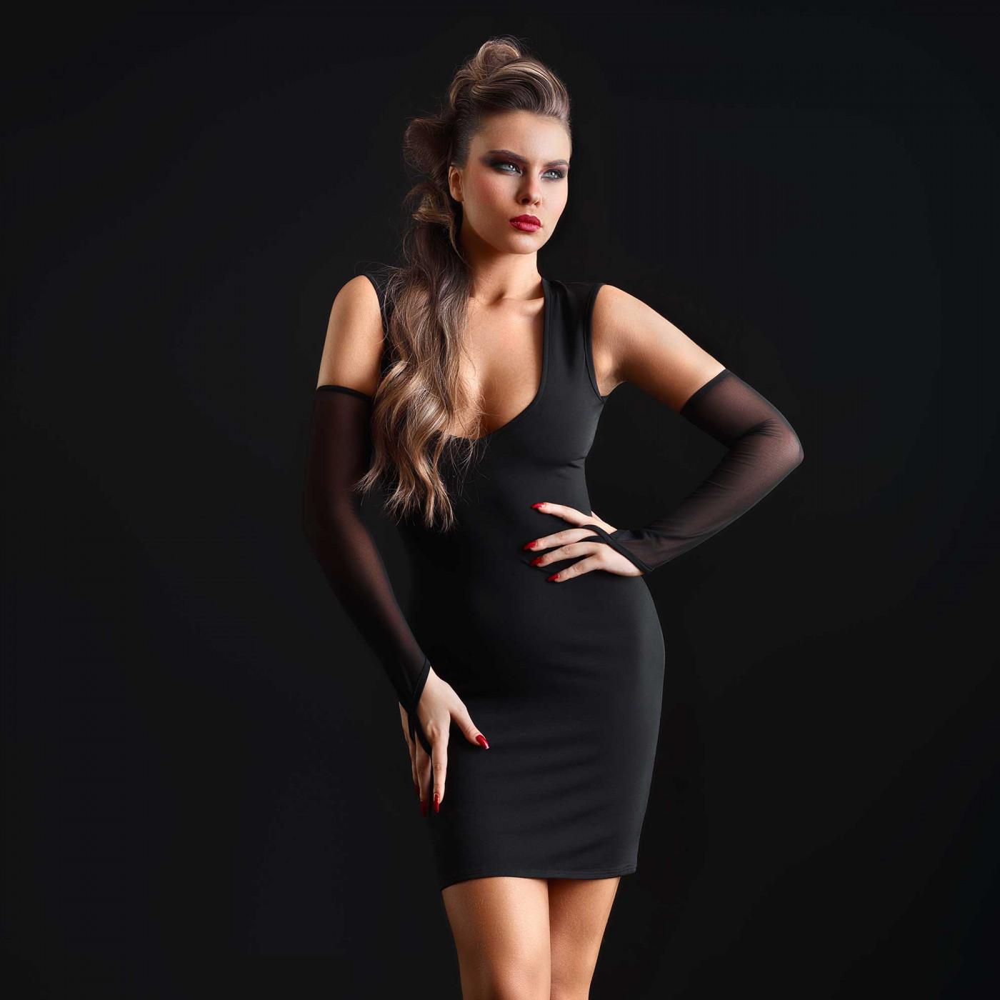 Brittany, robe sexy en lycra noir - Patrice Catanzaro
