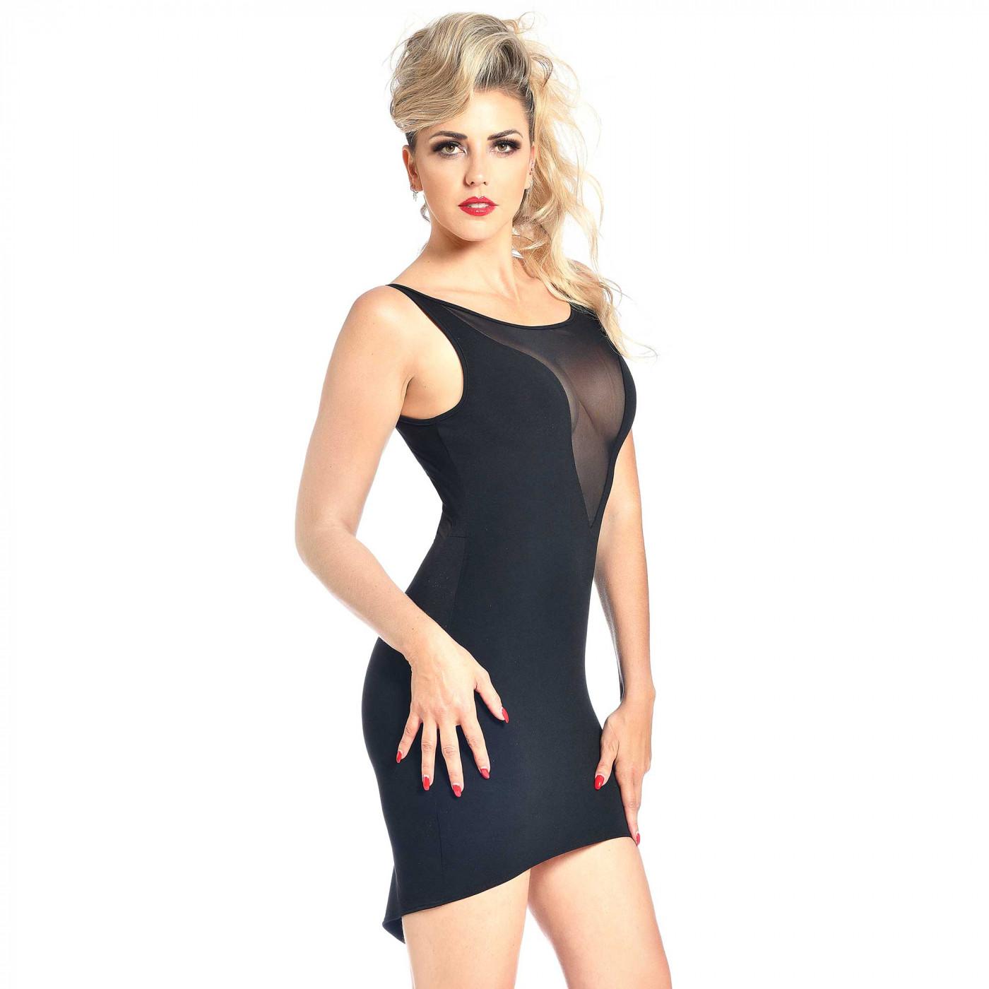 Alvina, mini robe dos transparent - Patrice Catanzaro