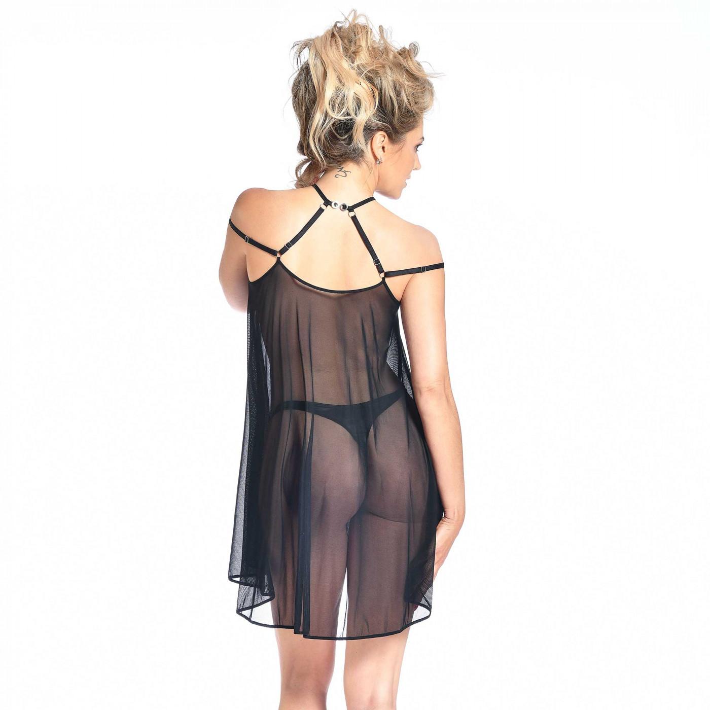 Belladonna, robe en résille noire - Patrice Catanzaro