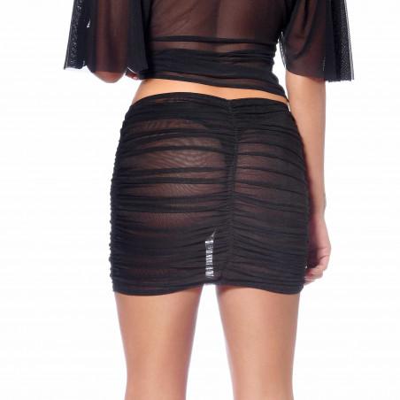 Turquoise mesh skirt
