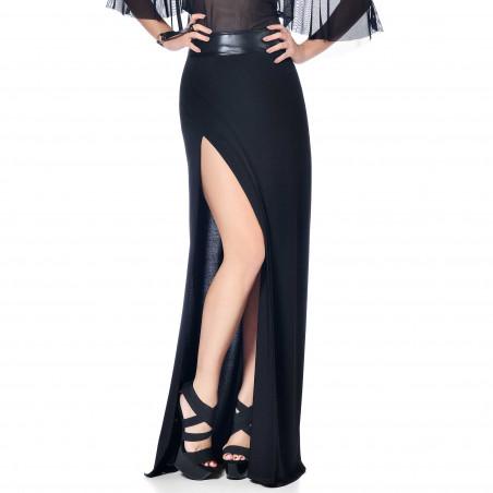 Saphir lycra long skirt