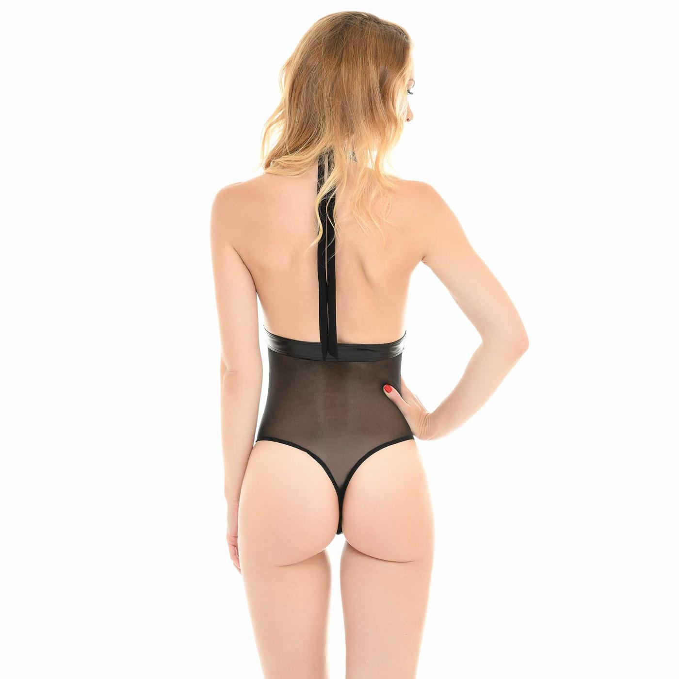Mylène, body sexy en résille dos nu - Patrice Catanzaro