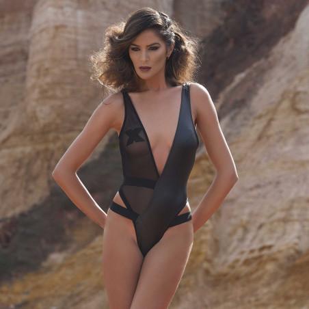 Alma B wetlook bodysuit