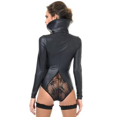 Bibi, fetish black wetlook dress - Patrice Catanzaro