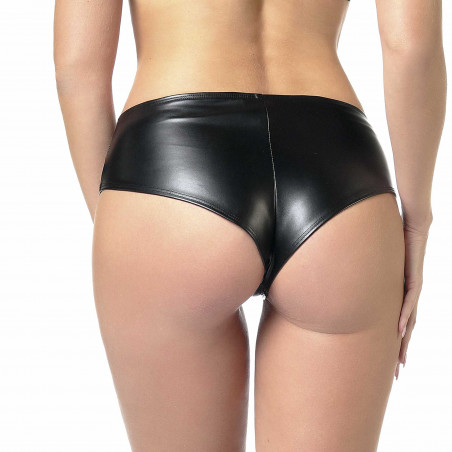 Beatrice faux leather shorty