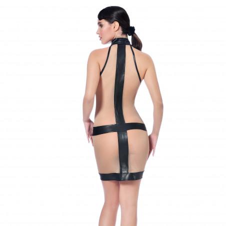 Lula faux leather dress