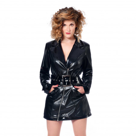 Angela faux leather dress &...