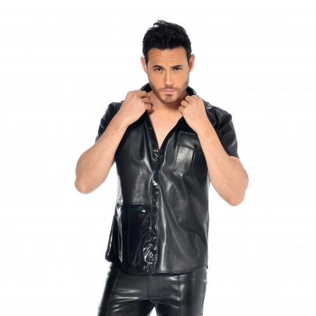 Liam faux leather shirt