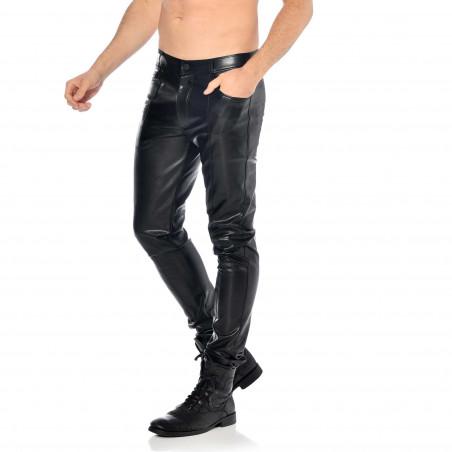 Joss faux leather trousers