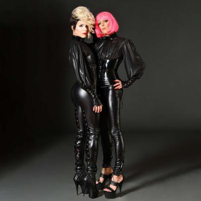 Plume, fetish vinyl midi skirt - Patrice Catanzaro