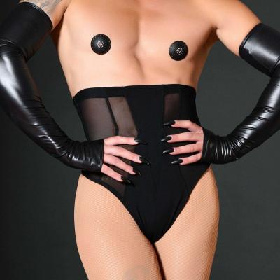 Vera, black neoprene leggings - Patrice Catanzaro