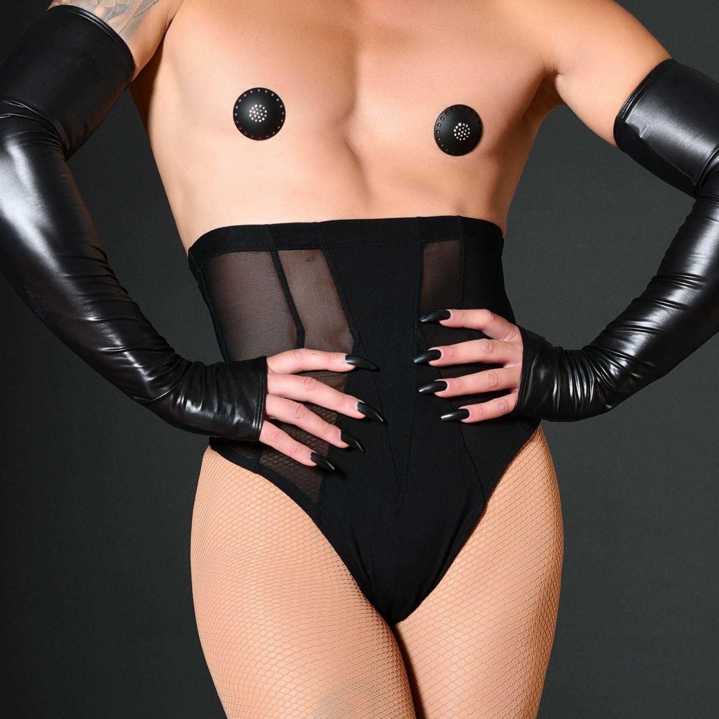 Vera, legging sexy en néoprène noir - Patrice Catanzaro