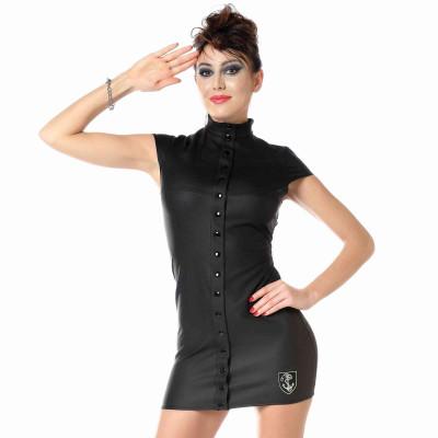 Ibiza, mini jupe en résille noire - Patrice Catanzaro