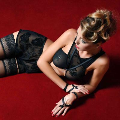 Azia, sexy arabesque print dress - Patrice Catanzaro