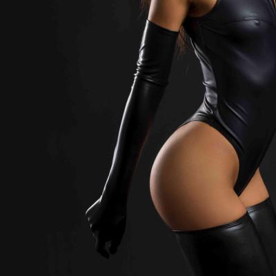 Océane, robe sexy en néoprène noir - Patrice Catanzaro
