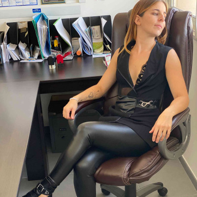 Uzi, fetish black wetlook dress - Patrice Catanzaro