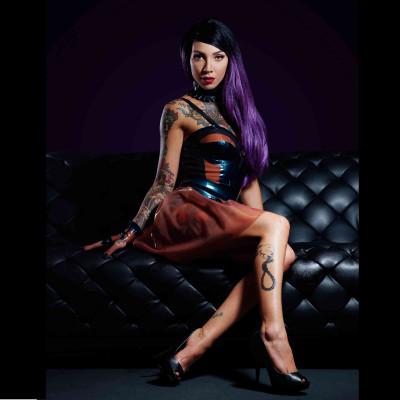 Belladonna, sexy black mesh dress - Patrice Catanzaro