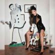 Belladonna, sexy white mesh dress - Patrice Catanzaro