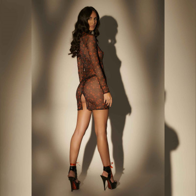 Jelena, sexy black lycra bodysuit - Patrice Catanzaro