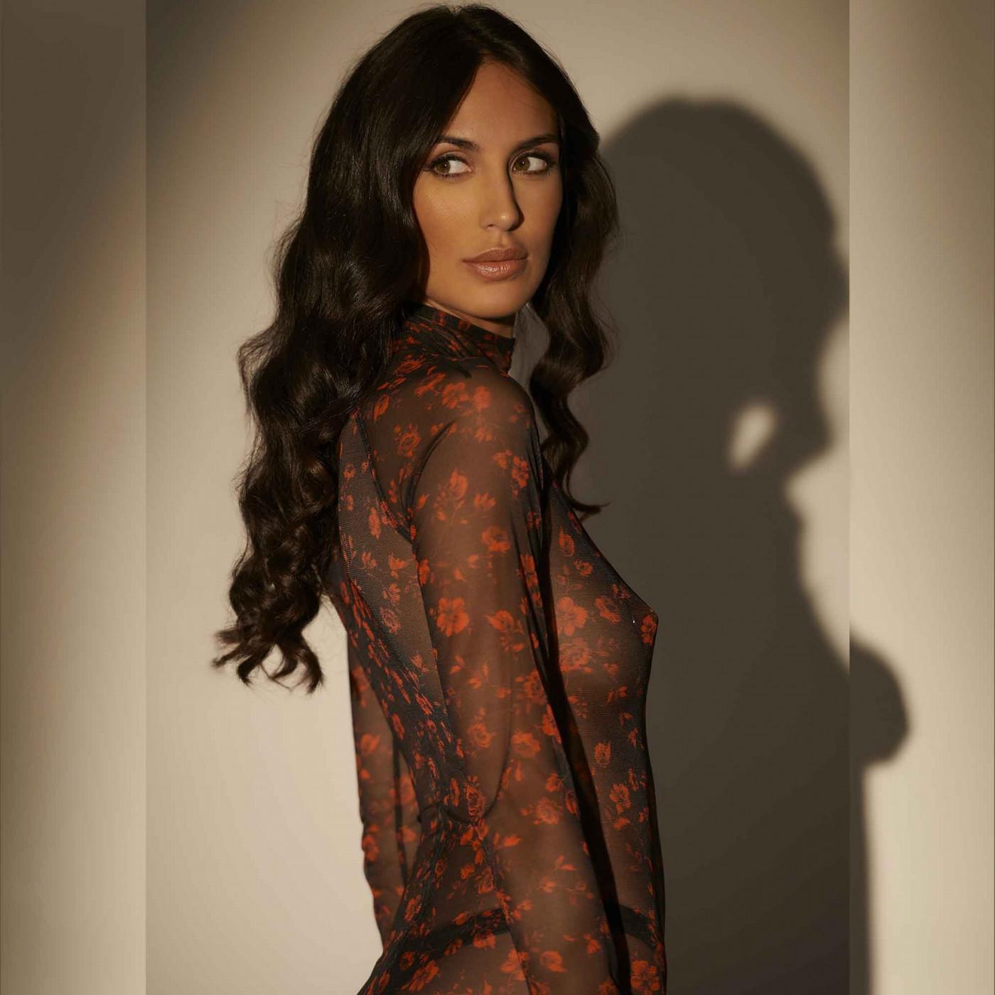 Lenore, crossed back lycra dress - Patrice Catanzaro