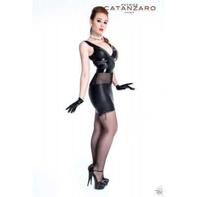 Terry, mini robe col haut en wetlook - Patrice Catanzaro