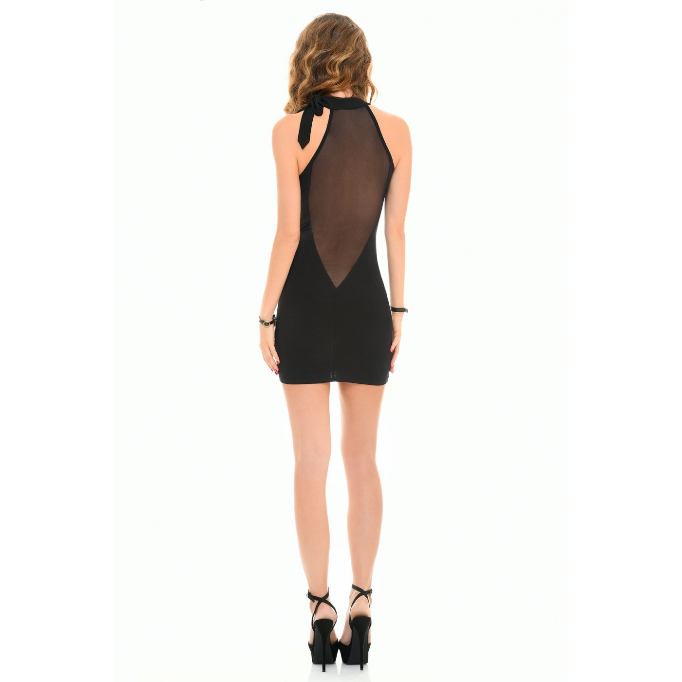 Cecily, sexy black lycra dress - Patrice Catanzaro